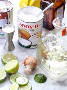 A refreshing combination of coconut cream and coconut milk infuse tropical flavors into my favorite reposado tequila margarita, served on the rocks. Lime Margarita Recipe, Mezcal Margarita, Margarita Recipes, Cocktail Recipes, Margarita Party, Coconut Tequila, Coconut Margarita, Festive Cocktails, Vodka Cocktails
