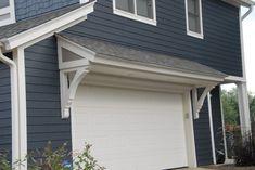 Door And Overhang Carriage House Garage Door Design