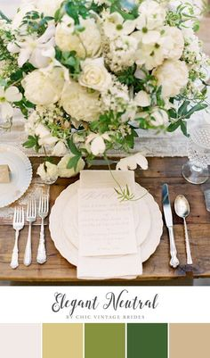 Elegant Neutral Summer Wedding Colour Palette