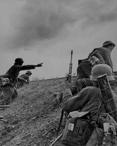 Wehrmacht soldiers on the Eastern Front.