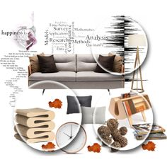 viva #42 by bibeviva on Polyvore featuring polyvore, interior, interiors, interior design, home, home decor, interior decorating, Poltrona Frau, Vitra, Crate and Barrel, Foscarini and Georg Jensen