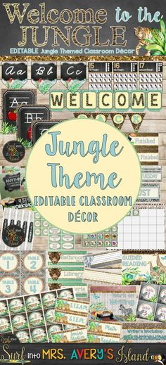 My Jungle Theme Classroom Decor Bundle is a perfect back to school resource to help teachers with classroom organization and classroom management! This shabby chic bundle of back to school printables is FULL of editable decorations for your bulletin boards designed with BEAUTIFUL watercolor jungle themed clip art! Click here to see what other teachers have to say!