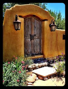 Charming entry of a Spanish Colonial Style Hacienda, Hacienda Homes, Mexican Hacienda, Mexican Style, Spanish Style Homes, Spanish House, Spanish Colonial, Southwestern Home, Southwest Decor