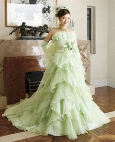 Wedding Dress Fantasy - Green Wedding Dress - Available in Every Color 1, $1,200.00 (http://www.weddingdressfantasy.com/green-wedding-dress-available-in-every-color-1/)