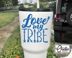 45aa73e39 Love My Tribe Decal Love My Tribe Sticker Cup Decal Car | Etsy Patterned  Vinyl,