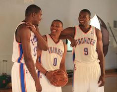 Kevin Durant, Russell Westbrook and Serge Ibaka