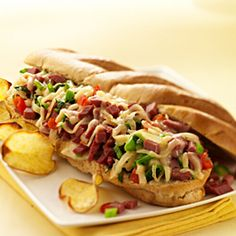 Pastrami Cheesesteak with Piquanté Peppers, Caramelized Onions and Wisconsin Roth Käse Fontiago