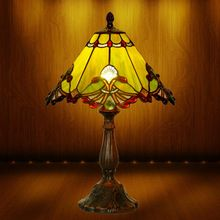 13 Inch Table Lamp Tiffany Lamp American Art Deco Living Room Bedroom Lamp Lighting New Stained Glass Lampshades(China (Mainland))