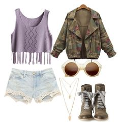 """""""Hippie"""" by bia-jackson on Polyvore featuring Forever 21, ZeroUV and Brunello Cucinelli"""