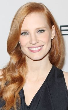 Hollywood's Most Requested Hair Colours | #Jessica Chastain Auburn Hair | #Celebrity #hairextensions