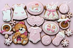 For the little Princess Sophie! Baby, teddy bear cookie set by Mila Krylova