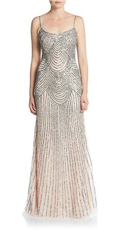 Basix Black Label | Sequined Trumpet Gown | SAKS OFF 5TH