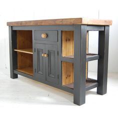 reclaimed wood kitchen island cupboard by eastburn country furniture | notonthehighstreet.com