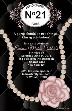 coco chanel invitation templates - Google Search