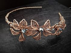 Crystal Copper Headband by OlgaGrassJewelry on Etsy