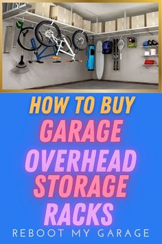 Hanging storage racks from the garage ceiling requires a bit more thought than buying other types of garage storage. That bit of thought can save you, your family, and your possessions from a crushing accident. Don't buy garage overhead racks until you understand the right way to install and load these shelves Garage Hanging Storage, Garage Ceiling Storage, Overhead Storage Rack, Ladder Storage, Bicycle Storage, Garage Vacuums, Sports Equipment Storage, Garage Racking, Clean Garage