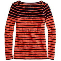 Painter boatneck tee in stripe ❤ liked on Polyvore