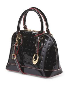 Made In Italy Patent Leather Mini Buggati Satchel