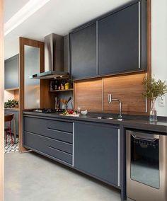 Kitchen Trends 2019 – 30 Best Amazing Kitchen Design Trends And Ideas - Page 24 of 30 - eeasyknitting. Grey Kitchen Designs, Kitchen Room Design, Modern Kitchen Design, Home Decor Kitchen, Interior Design Kitchen, Kitchen Furniture, New Kitchen, Compact Kitchen, Cool Kitchens