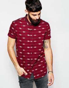 ASOS Shirt In Short Sleeve With Ikat Print