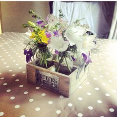 Beautiful flowers from a beautiful village shabby chic shop. Love. Xxx
