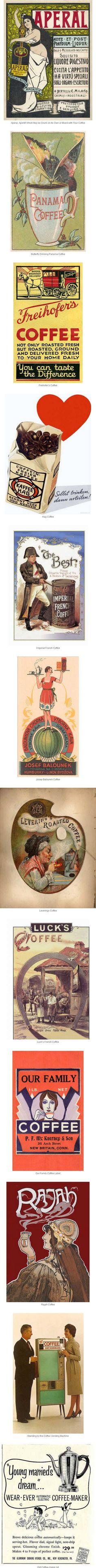 Vintage Coffee Labels Vintage Labels, Vintage Ads, Coffee Labels, Vintage Coffee, Logo, Books, Cards, Design, Vintage Tags