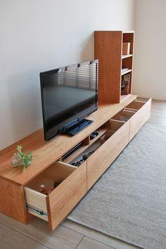 Living Room Wall Units, Living Room Built Ins, Interior Design Living Room, Lcd Wall Design, Contemporary Tv Stands, Tv Stand Decor, Tv Unit Furniture, Tv Unit Decor, New Interior Design