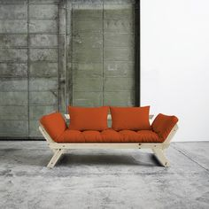 Canapea extensibila Bebop Unfinished Orange #homedecor #livingroom Outdoor Sofa, Outdoor Furniture, Outdoor Decor, Rattan, Barcelona Chair, Sofa Chair, Living Room, Orange, Cool Stuff