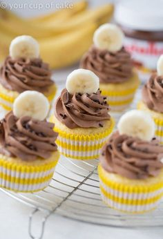 Used this Nutella frosting. Easy and delish!