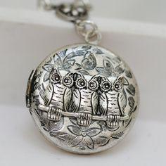 Silver Owl Locket