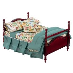 Four-Post Bed with Bedding