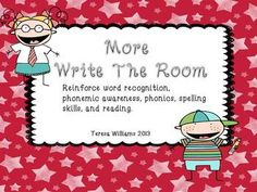 More Write The Room This is a great way to #reinforce word recognition, #phonemic awareness, #phonics, #spelling, and #reading. Covers many #Common Core Standards for #1st grade and #second grade.