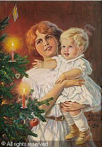Jenny Nyström (1854-1946): Julstämning, 1916