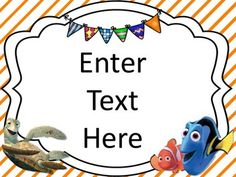 FInding Nemo Themed Classroom Posters {EDITABLE} Keep your classroom swimming with this set of 8 different editable Finding Nemo themed classroom posters. Use these posters anywhere around your classroom or on a bulletin board!