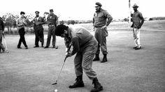 Castro y el Che juegan al golf en 1960