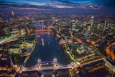 Photos of the Day: Aerial Photographs of London by Jason Hawkes. Jason Hawkes has specialized in aerial photography since is based just outside Day For Night, Night Life, Holiday Money, London Airports, London Night, Beautiful London, London Tours, Sky Garden, London Skyline
