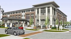 Located next to Metro Hospital and Granger Village Green, the four-story building will include 70 independent living units, 40 assisted living units and 20 memory care/Alzheimers units. Independent Senior Living, Senior Living Facilities, Assisted Living, Disability, Michigan, Socks, Community, Mansions, How To Plan