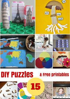 DIY PUZZLES AND FREE PRINTABLES Kids Learning Printables Linky Party