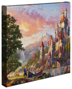 Thomas Kinkade Beauty and the Beast II 14x14 Canvas Wrap >>> Read more at the image link. (This is an affiliate link) #CozyHomeDecor