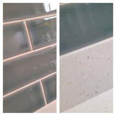#lb_interiors #sdbtilingltd #neve #brick #crackle #glaze #corian #slwallsandfloor