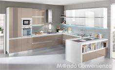 Cucina moderna con penisola cucine lube pinterest cucina for Cucina veronica mondo convenienza
