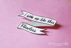 Beyoncé Knowles Flawless brooch pin by ohgoshCindy on Etsy, £6.00