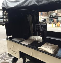 Hey New Yorkers!! If you're out and about today stop by the @rivaynyc retail mobile unit parked on Lafayette b/w Prince and Spring!! @jonruti and @kristinaboiano custom built this on a Land Rover Sankey trailer- pulled by Jon's matching Defender 90. Super cool clothes super cool people and a pop-up shop worth checking out  #rivaynyc #landroverdefender #d90 by kaboiano Hey New Yorkers!! If you're out and about today stop by the @rivaynyc retail mobile unit parked on Lafayette b/w Prince and…
