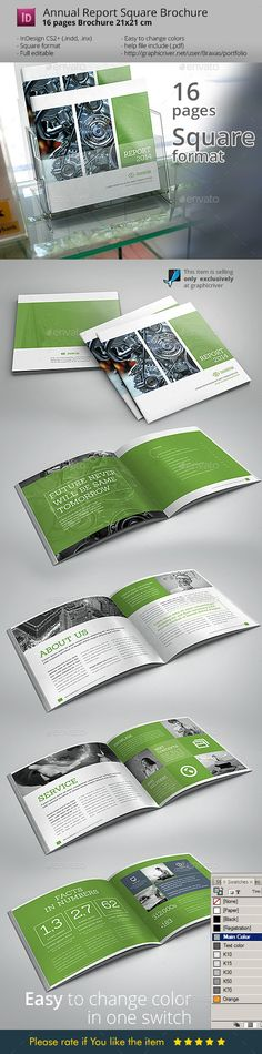 Annual Square InDesign Brochure