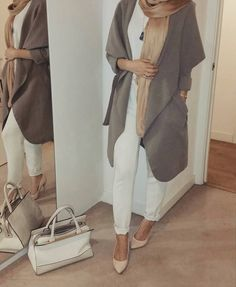 "Rolla Ramadan | رولا رمضان on Instagram: ""Waterfall coat from @houseofhayaa, I love how versatile this piece is, it's the perfect transition coat! It comes with a belt and is sold in other colours """