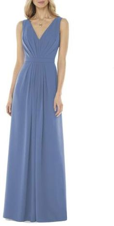 Social Bridesmaids V-Neck Georgette Gown