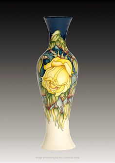 Moorcroft: 'Marechal Niel' 93/12 Limited Edition. Kerry Goodwin 2016