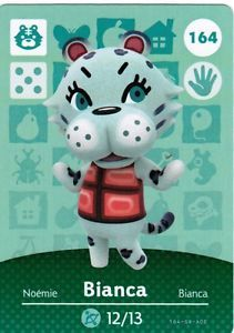 Amiibo-Cards-164-BIANCA-Series-2-Animal-Crossing-Happy-Home-Designer-NA