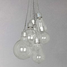 BuyJohn Lewis Croft Collection Kinsley Glass Dangle Cluster Ceiling Light Online at johnlewis.com