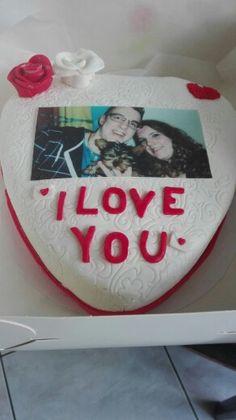 Valentijns taart met foto